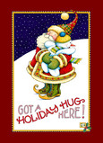 Holiday Hug Here 5x7 Folded Card