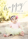 Happy 2016 Overlay 5x7 Flat Card