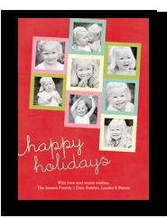 Happy Holidays Bright Frames 5x7 Flat Card