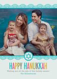 Bright Hanukkah Lace Border 5x7 Flat Card