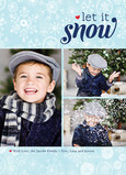 Let Snow Snowflakes 5x7 Flat Card