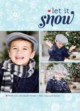 Snowflake Art Let It Snow 5x7 Flat Card