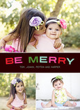 Be Merry Three Photo 5x7 Flat Card