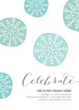 Celebrate Blue Snowflakes 5x7 Flat Card