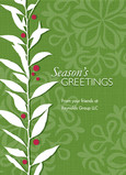 Seasons Greetings Holly 5x7 Flat Card