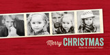 Photo Strip Christmas 8x4 Flat Card