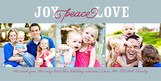 Blue Joy Love 8x4 Flat Card