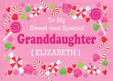 Sweet Granddaughter Candy 7x5 Folded Card