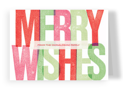 Merry Wishes 7x5 Folded Card
