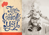 Time to Celebrate You 7x5 Folded Card