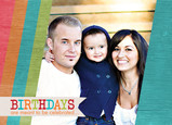 Bright Stripe Birthdays 7x5 Folded Card