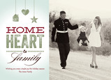 Home Heart and Family 7x5 Flat Card