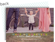Colorful Merry Little Christmas Overlay 7x5 Flat Card