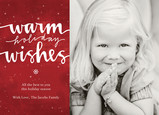 Warm Holiday Snowflakes 7x5 Flat Card