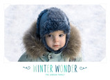 Winter Wonder Photo 7x5 Flat Card