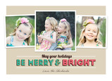 Be Merry and Bright 7x5 Flat Card