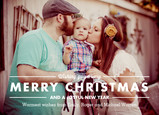 Photo Christmas Wishing 7x5 Flat Card