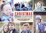 Peace Christmas Cheer 7x5 Flat Card