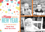 Polka Dotted New Year 7x5 Flat Card