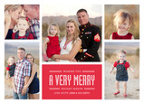 Modern Very Merry 7x5 Flat Card