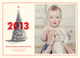 2012 Christmas Tree 7x5 Flat Card