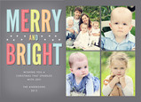 Colorful Merry Bright 7x5 Flat Card