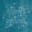 Looping Seasons Greetings 4.75x4.75 Folded Card