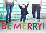 Colorful Be Merry 7x5 Flat Card