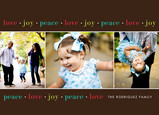 Love Joy Peace Border 7x5 Flat Card