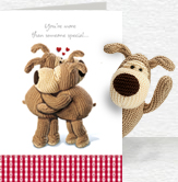 Boofle Hug Card and Plush 5x7 Folded Card