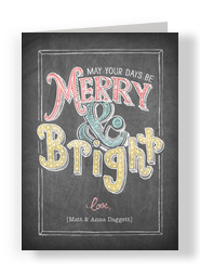 Chalk Merry Bright 5x7 Folded Card
