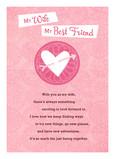 Arrow Wife Heart 5x7 Folded Card
