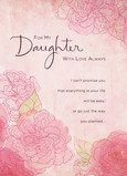 Daughter Love Always 5x7 Folded Card
