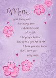 Mom Loving Care 5x7 Folded Card