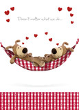 Boofle Love Hammock 5x7 Folded Card