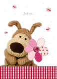 Boofle Just Me Flower 5x7 Folded Card