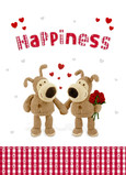 Boofle Love Happiness 5x7 Folded Card