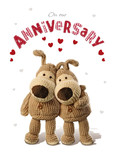 Heart Boofle Anniversary 5x7 Folded Card