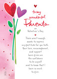 Wonderful Parents Valentine 5x7 Folded Card