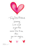 Dear Husband Valentine 5x7 Folded Card