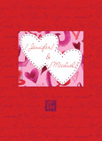 Two Heart Love 5x7 Folded Card