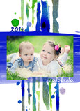 Blue Celebrate Year 5x7 Folded Card