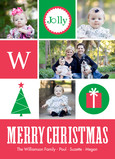Jolly Christmas Monograph 5x7 Flat Card