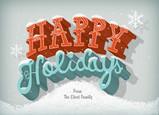 Snowy Happy Holidays 7x5 Folded Card