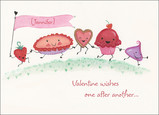 Yummy Valentine Wishes 7x5 Folded Card