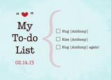 Valentine To-Do List 7x5 Folded Card