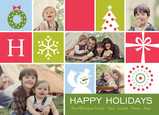 Holiday Icons Collage 7x5 Flat Card