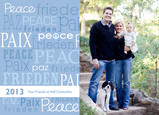 Multilingual Peace 7x5 Flat Card