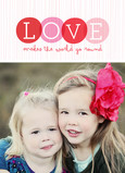 Circle Love Photo 5x7 Folded Card
