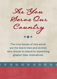 As You Serve Our Country 5x7 Folded Card